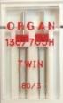Иглы двойные стандарт № 80/4.0, 1 шт.