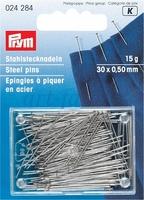 024284 Prym Булавки портновские 30*0,5мм, 15г, закаленная сталь