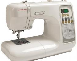 New Home 8330 — Лучшая швейная машина для выметывания пуговичных петель.